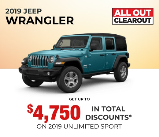 2019 Jeep Wrangler Special Offer
