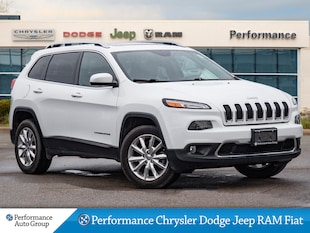 2016 Jeep Cherokee *Limited * 4X4 * Leather * Heated Seats * NAV* SUV