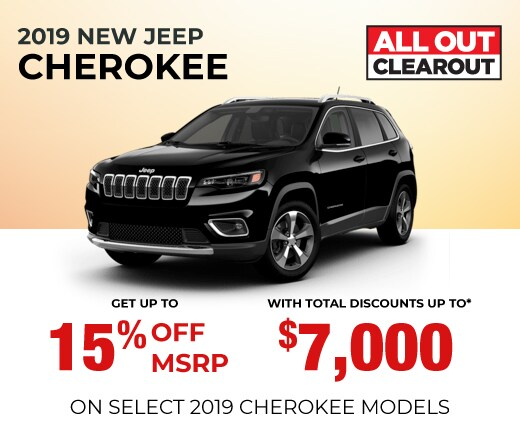 2019 Jeep Cherokee Special Offer