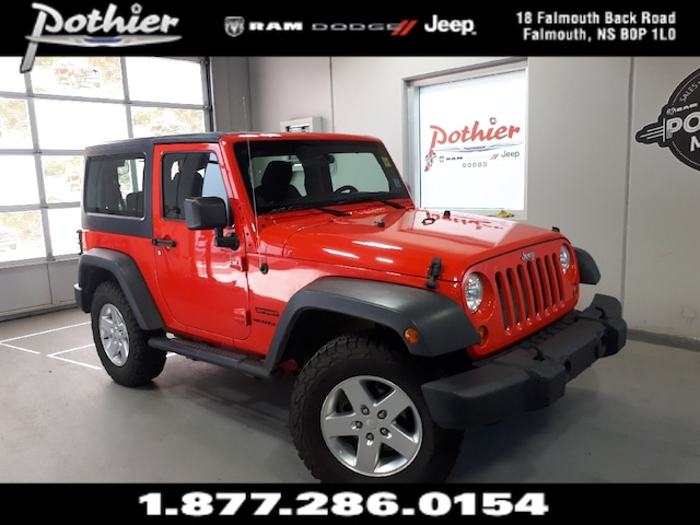 2013 Jeep Wrangler Sport >> Used 2013 Jeep Wrangler Sport Manual Hard Top Bluetooth For Sale Falmouth Ns Vin 1c4ajwagxdl673463