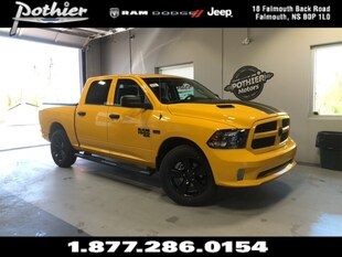 2019 Ram 1500 Classic Express Stinger Yellow Truck Crew Cab 1C6RR7KT2KS650914