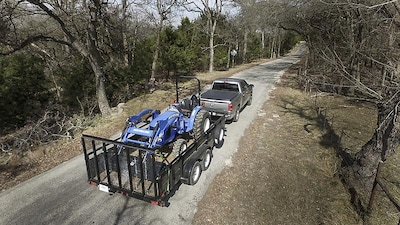 2022 Ram 1500 Towing Trailer and Load