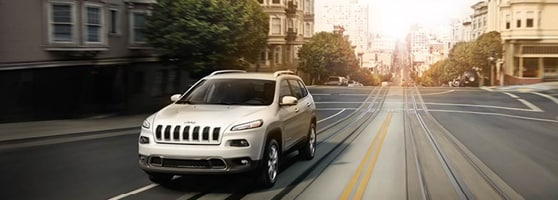 White Jeep Cherokee