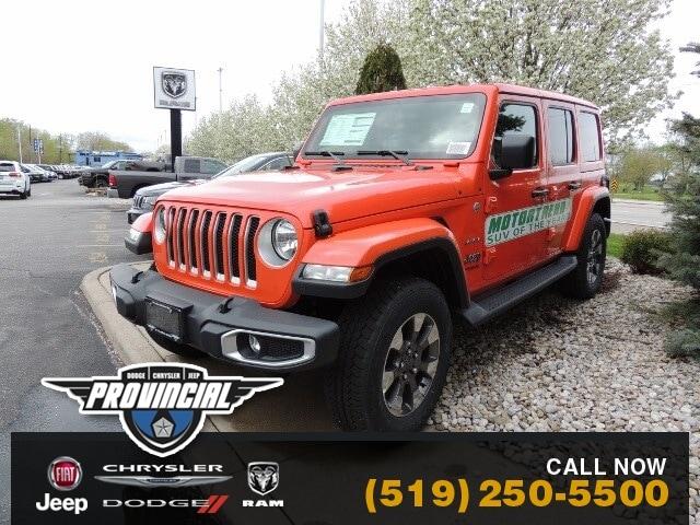 2019 Jeep Wrangler Unlimited Sahara Windsor Jeep Dealer Provincial SUV 1C4HJXEG1KW579630 190630