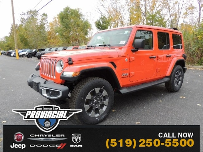 New 2019 Jeep Wrangler Unlimited Sahara SUV 1C4HJXEG0KW674776 191398 in Windsor, Ontario near LaSalle