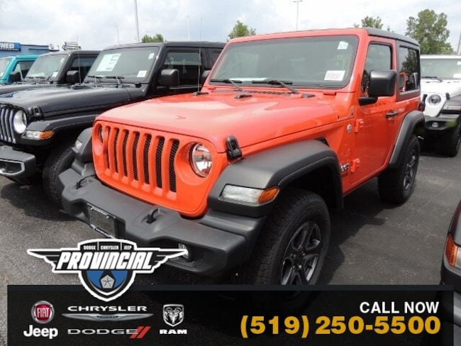 New 2019 Jeep All-New Wrangler Sport S Windsor Best jeep Deals Provincial Chrysle SUV 1C4GJXAG7KW670631 191195 in Windsor, Ontario near LaSalle