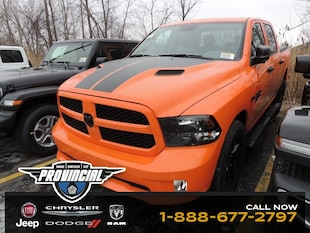 2019 Ram 1500 Classic Express Ignition Orange Truck Crew Cab 1C6RR7KT1KS611473 190587