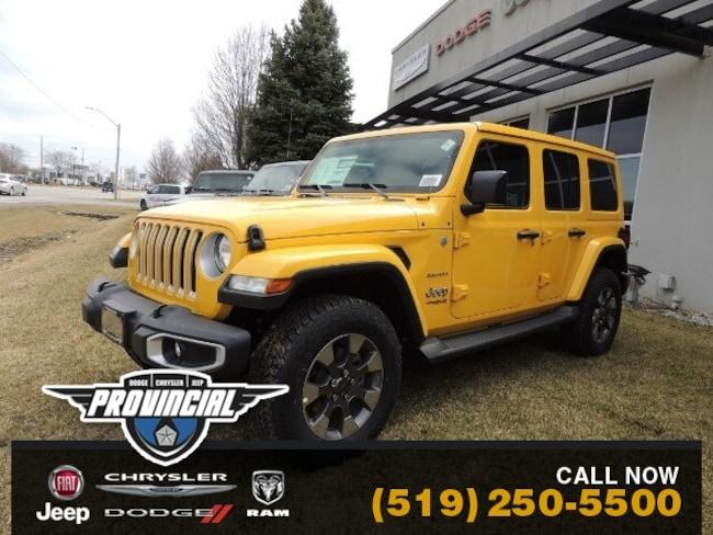 New 2019 Jeep Wrangler Unlimited Sahara SUV 1C4HJXEG1KW579627 190647 in Windsor, Ontario near LaSalle