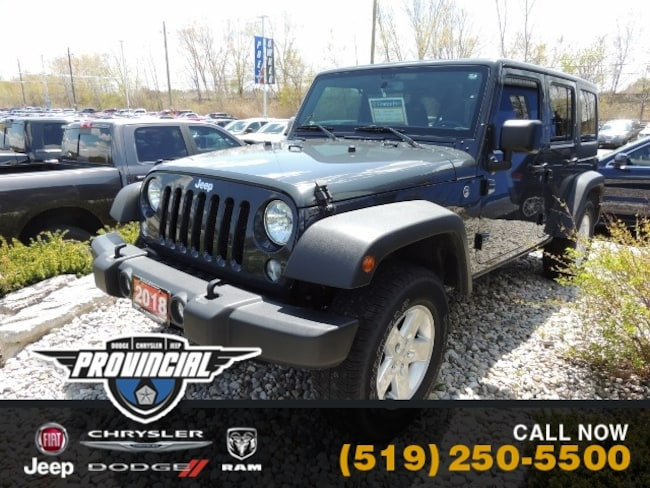 Used 2018 Jeep Wrangler JK Unlimited Sport SUV in Windsor, Ontario