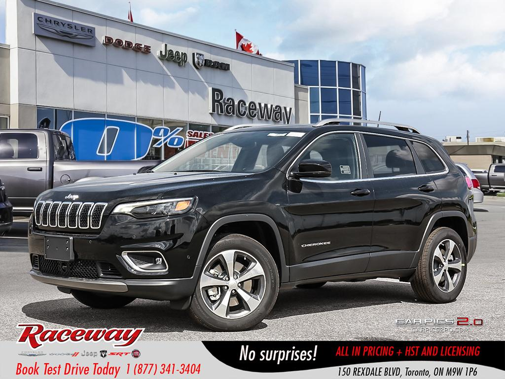 2019 Jeep New Cherokee Limited | 4x4 | V6 | PREM LTHR | SUNROOF SUV