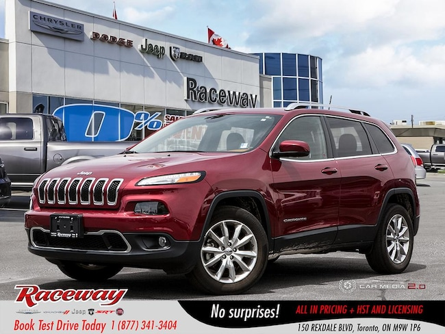 2016 Jeep Cherokee Limited - Nav, Vented & Htd Seats, Back Up Cam, Bl SUV