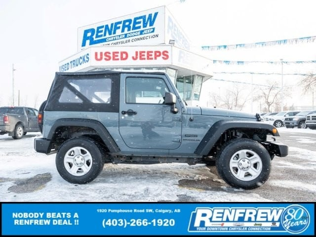 2015 Jeep Wrangler Sport 4x4, Manual, LOW KMS! Soft Top SUV
