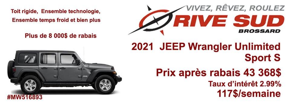 Nouveauté Jeep Wrangler Unlimited Sport S 2021