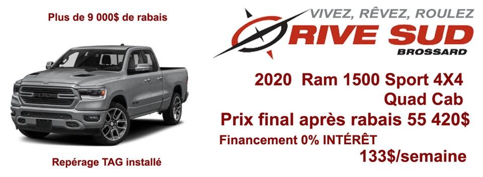 Spéciaux de Septembre sur Ram 1500 2020  sélectionnés