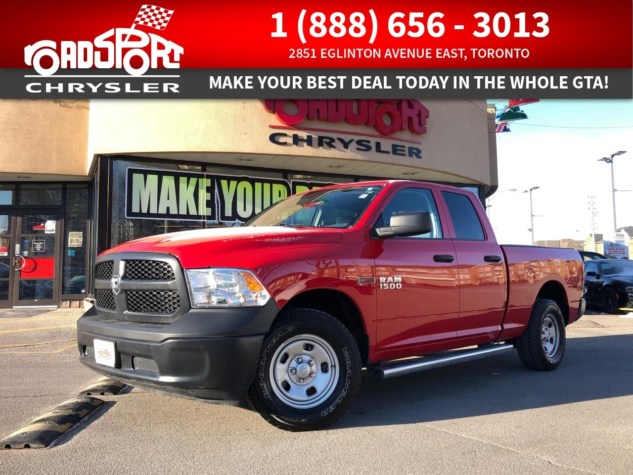 Featured used 2017 Ram 1500 Tradesman HFE | EcoDiesel, XM, Remote Entry Truck for sale in Toronto, ON