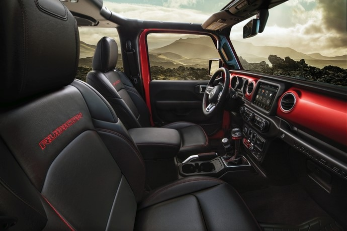 2020  Red Jeep Wrangler Rubicon Interior