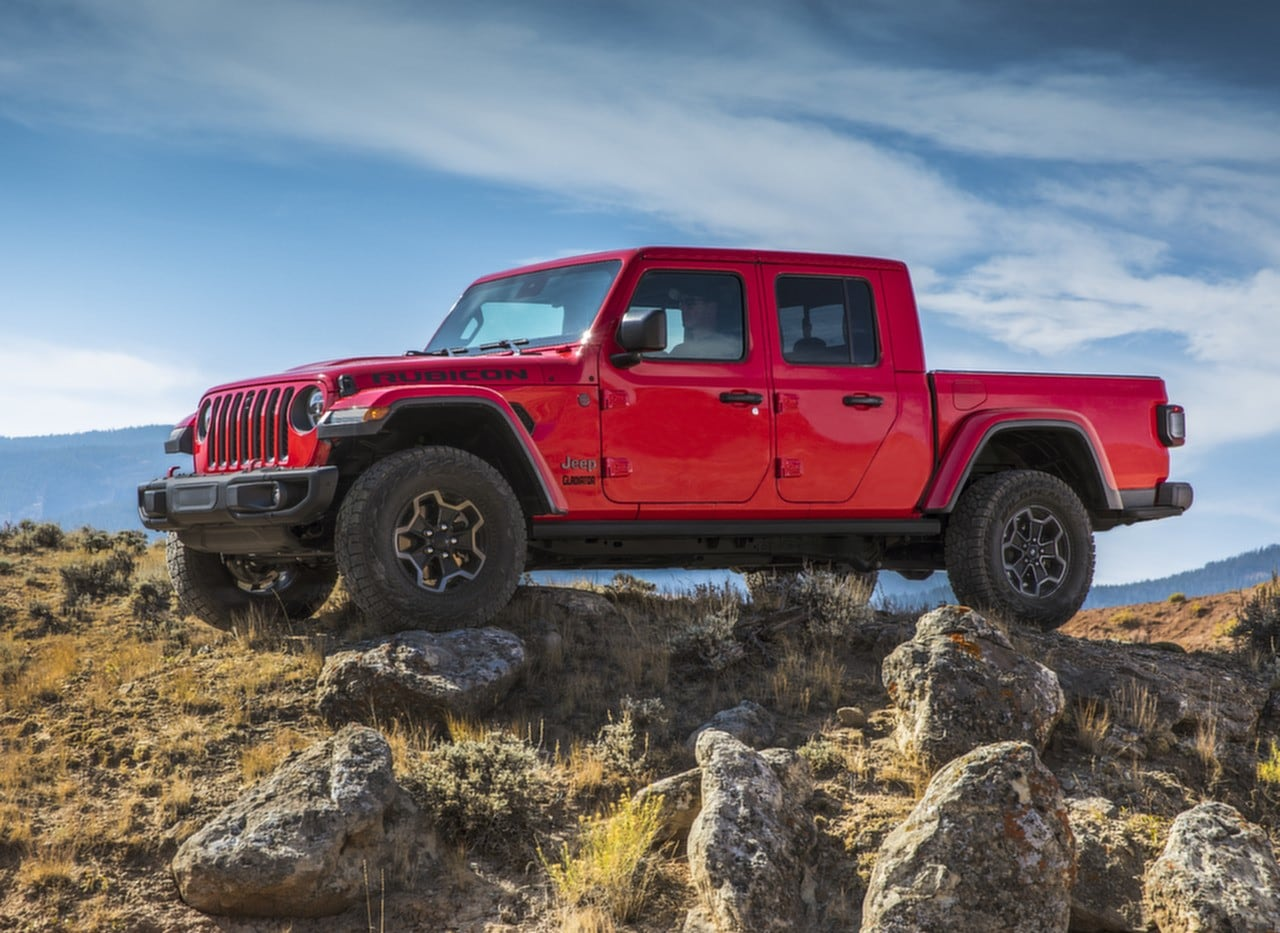 2020 Jeep Gladiator Rubicon Red On Rocky Hill