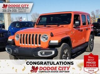 New 2020 Jeep Wrangler Sahara | 4x4 for sale/lease in Saskatoon, SK