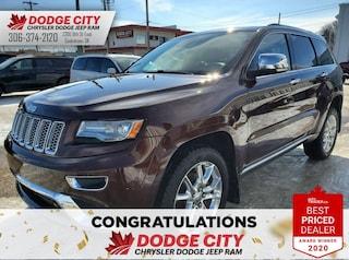 Used 2014 Jeep Grand Cherokee Summit | Ac, B/U Cam, Htd. Seats, Sunroof Sport Utility 1C4RJFJG6EC302501 for sale in Saskatoon, SK
