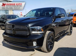 Used 2015 Ram 1500 Black Sport | Htd.Seats, Bup Cam, BTooth Crew Cab Pickup 1C6RR7MTXFS691102 for sale in Saskatoon, SK