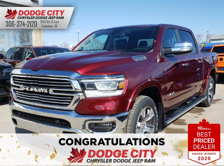 2019 Ram All-New 1500 Laramie | 4x4 | Crew Cab | 57 Box Truck Crew Cab