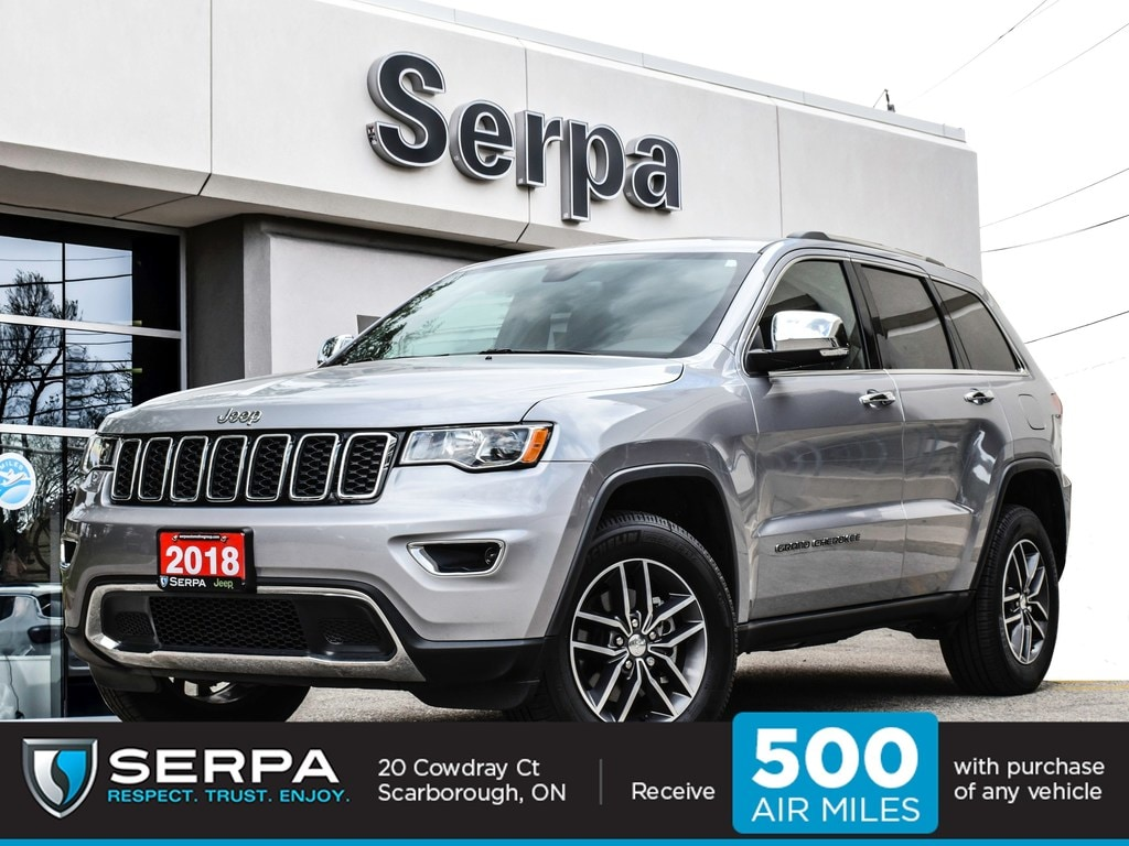 2018 Jeep Grand Cherokee 4X4 Limited |Leather|Nav|Rear Cam|18s|Not Rental