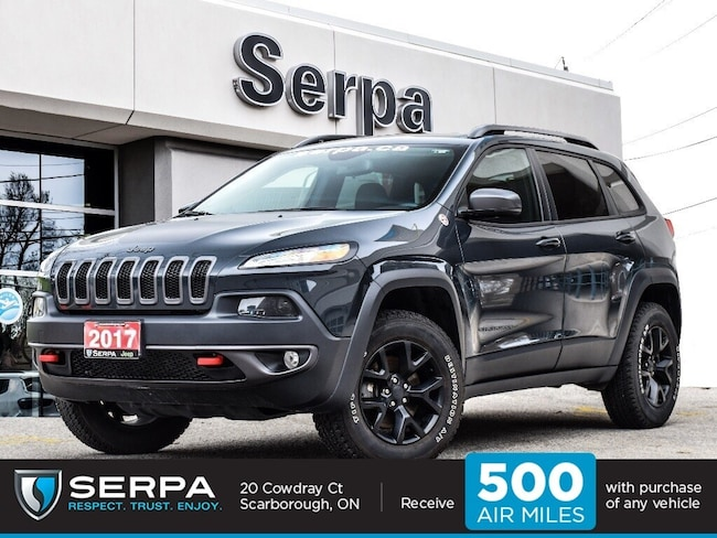 2017 Jeep Cherokee 4x4 Trailhawk |NAV|Leather|Blindspot|Heatedseats|R