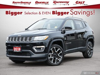 2018 Jeep Compass Limited|DUAL SROOF|HTD LTHR|NAV|RR CAM|SAT SUV