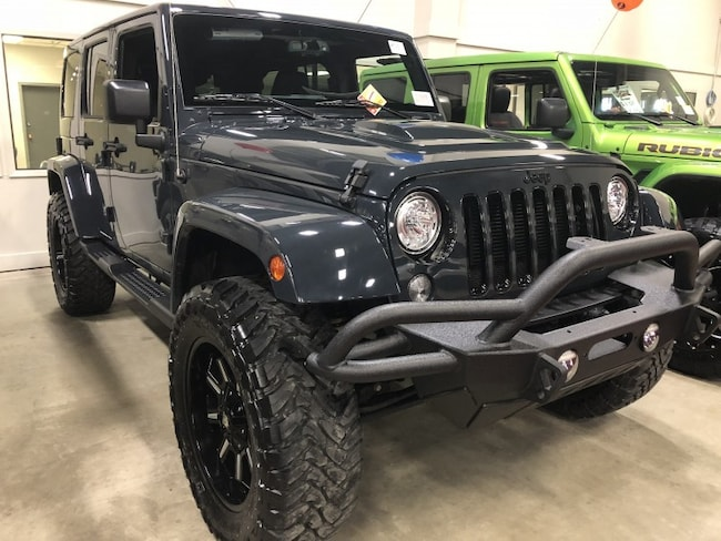 New 2018 Jeep Wrangler JK Unlimited Sahara Sport Utility WR1857 in Red Deer, AB