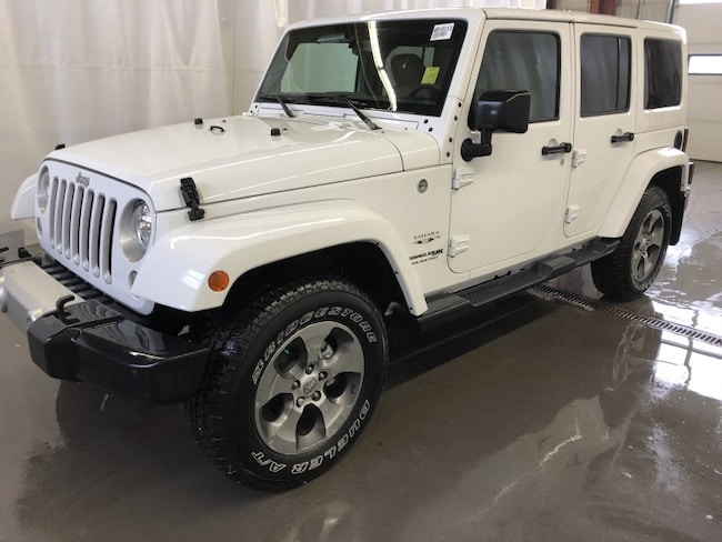 New 2018 Jeep Wrangler JK Unlimited Sahara SUV WR18113 in Red Deer, AB