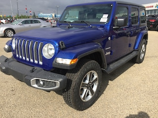 New 2018 Jeep All-New Wrangler Unlimited Sahara SUV WR1895 1C4HJXEN1JW195764 in Red Deer, AB