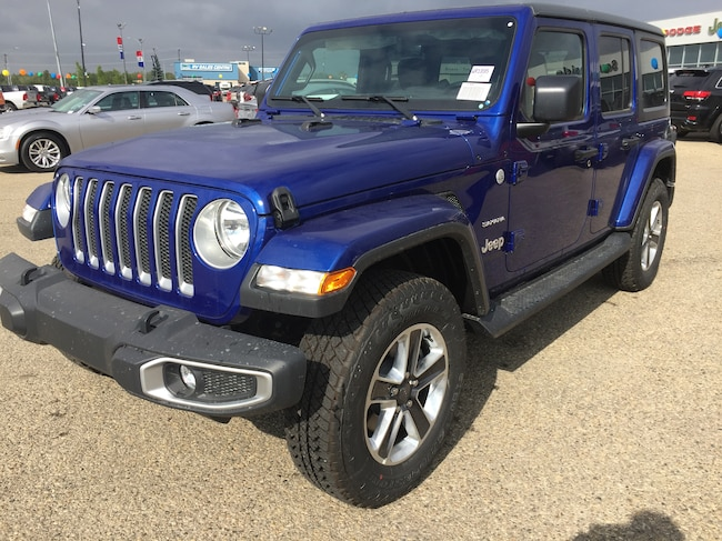 New 2018 Jeep All-New Wrangler Unlimited Sahara SUV WR1895 in Red Deer, AB