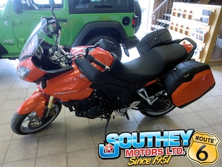 Bargain Used 2010 Triumph Tiger 1050 - Only 11,000 km's Motorcycle SMT700PD58T359783 for Sale in Southey, SK