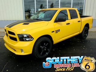 New 2019 Ram 1500 Classic Express Stinger Yellow Truck Crew Cab 1C6RR7KT3KS674770 in Southey, SK