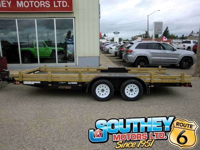 Used 2016 Rainbow Trailer Express - 14' Car & Equipment Hauler Trailer! Trailer 2RGBE1820G1002159 for sale near Regina