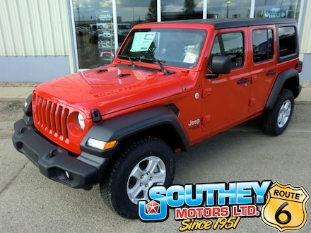 New 2019 Jeep Wrangler Unlimited Sport S SUV for sale in Southey, SK