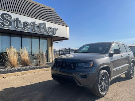 Featured new 2021 Jeep Grand Cherokee 80th Anniversary Edition 4x4 for sale in Stettler, AB