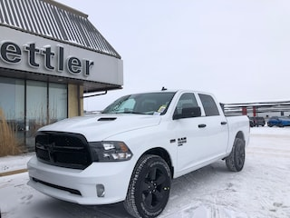 New 2021 Ram 1500 Classic Night Edition 4x4 Crew Cab 5.6 ft. box 140 in. WB 21T030 in Stettler, AB