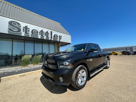 Featured pre-owned  2017 Ram 1500 Sport 4x4 Quad Cab 6.3 ft. box 140 in. WB for sale in Stettler, AB