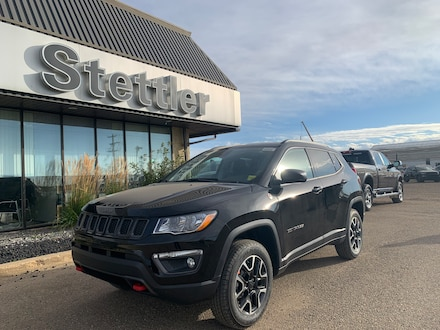 Featured new 2021 Jeep Compass Trailhawk 4x4 for sale in Stettler, AB