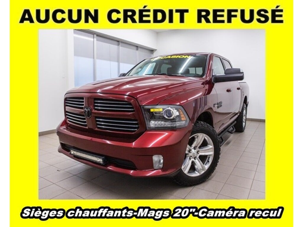 2017 Ram 1500 Sport 4X4 Mags 20 CAM Recul *SIÈGES Chauff Camion cabine Crew