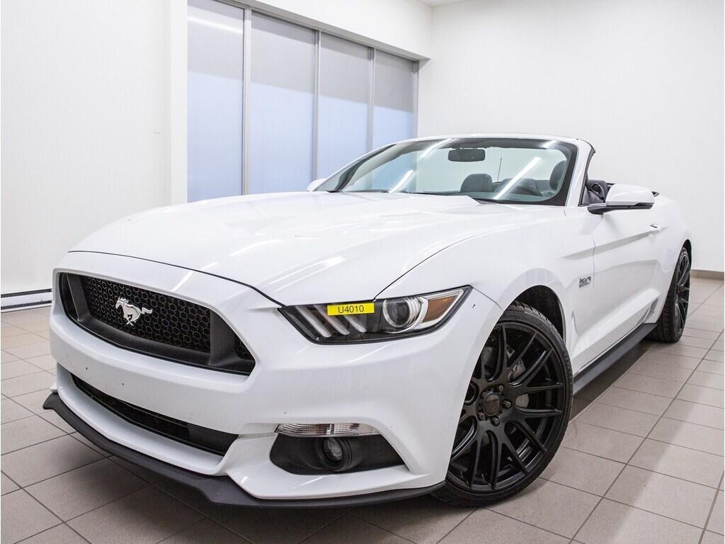 2017 Ford Mustang GT Premium SIÈGES Ventil Cuir *BAS KM* Décapotable ou cabriolet