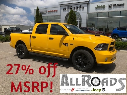 2019 Ram 1500 Classic Stinger Yellow Crew with Heated leather seats! Truck Crew Cab