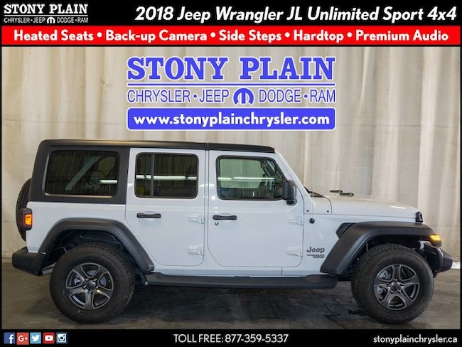 New 2018 Jeep All-New Wrangler Unlimited Sport S SUV Stony Plain