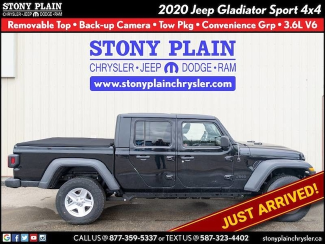 New 2020 Jeep Gladiator Sport S Truck Crew Cab Stony Plain