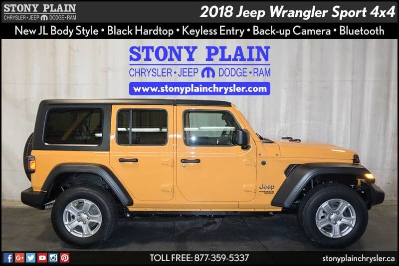 New 2018 Jeep All New Wrangler Unlimited Sport S SUV Stony Plain