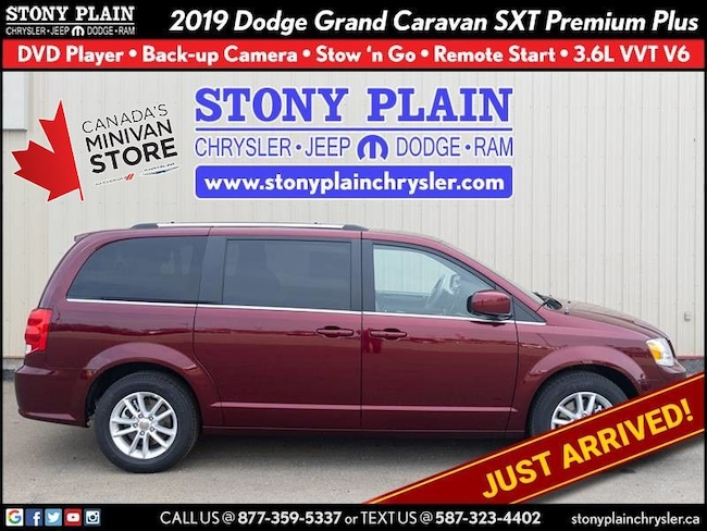 New 2019 Dodge Grand Caravan SXT Premium Plus Van Stony Plain