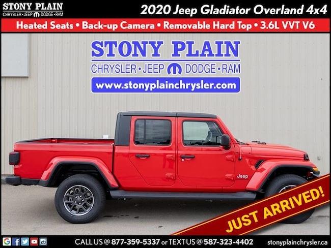 New 2020 Jeep Gladiator Overland Truck Crew Cab Stony Plain