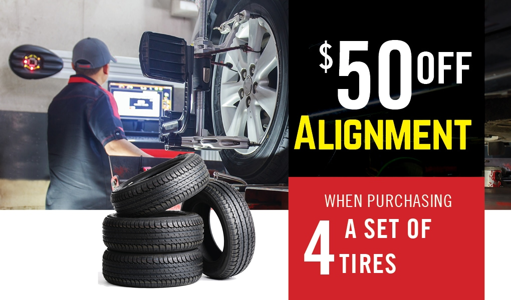 50 dollars off alignment