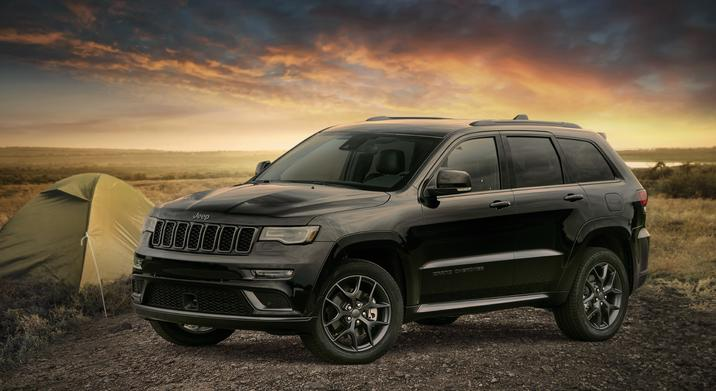2020 Jeep Grand Cherokee Limited X camping